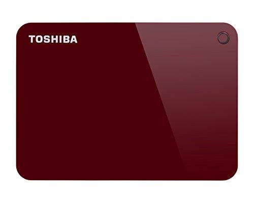 Toshiba HDTC920ER3AACanvio Advance Tragbare Externe Festplatte USB 3.0, 2TB rot