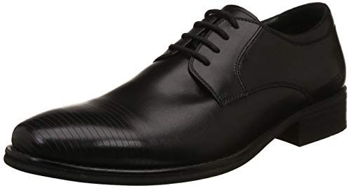 Woodland Men's Black Leather Formal Shoes - 9 UK/India (43 EU)
