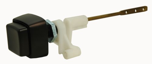 Toilet Tank Lever, Side-mounted, Push-Button Type, Oil Rubbed Bronze Finish, by Plumb USA