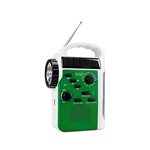Sdesign Radio portátil de manivela Solar de Emergencia, Radio de Alerta de Tiempo Am/FM/SW con Linterna LED, lámpara de Lectura, Cargador USB de Banco de energía de 2300mAh y Alarma SOS