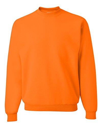 Jerzees Men's NuBlend Crew Neck Sweatshirt, Safety Orange, Small