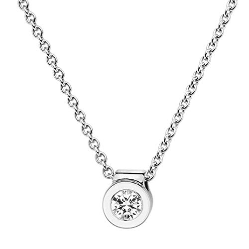 trendor Diamant-Anhänger 0,15 mit Halskette Weißgold 585/14K 532519