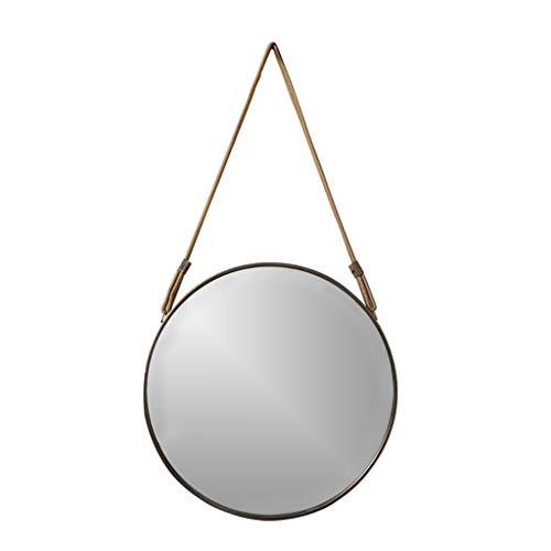 Diverse mirror Espejo Brillante Montado en la Pared Espejo Redondo, Cuerda Trenzada Dormitorio Maquillaje Decorativo Espejo de Hierro Forjado Antiguo Espejo de baño Espejo de baño Maquillaje y