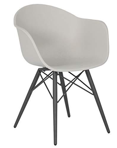 acamp Schalensessel New York trendigen Loftdesign anthrazit Weiss