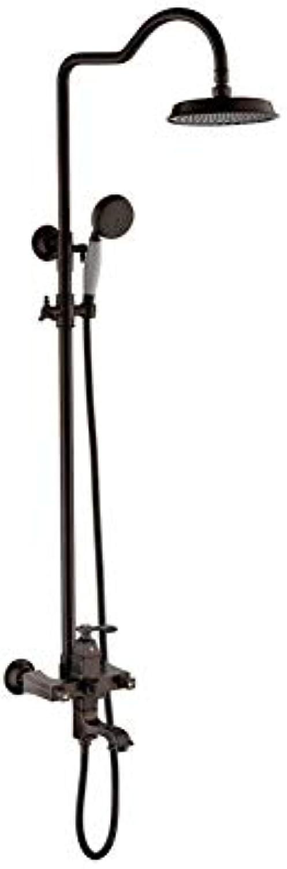 XingMe Retro-SDuschsystem, Badezimmerduschset mit Valve Wall Mount Shower Head Rain Mixer All Metal Solid Brass