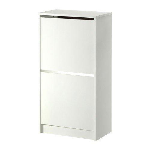 IKEA BISSA schoenenkast in wit; 2 vakken