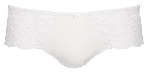 Preisvergleich Produktbild Nina von C. - Damen Hipster mit Spitze - Weiß Gr. 36
