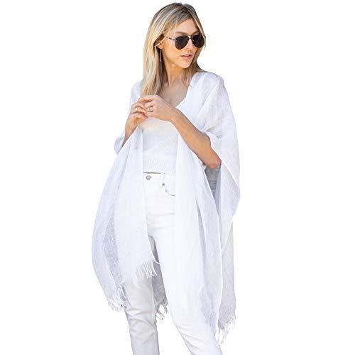 Mer Sea Luxury Linen Wrap 100% Linen, White