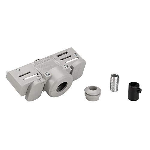 SLV 145994 EUTRAC 3-Phasen Stromschienen- adapter, grau inkl. Montagezubehör Zubehör, 230 V