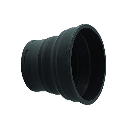 KUVRD - Universal Lens Hood - Fits 99% of Lenses, Holds 99% of Circular Filters, Fits 54mm-76mm, Single - (Small)
