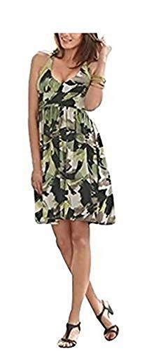 Modisches Jerseykleid von Vivance in Oliv-Limone, Oliv-Limone, 38