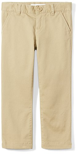 Amazon Essentials Girl's Slim Uniform Chino Pants, Khaki, 10(S)
