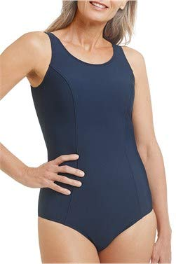 Amoena Women's Rhodes Polyester One-Piece Swimsuit, Blue, 16C 🔥
