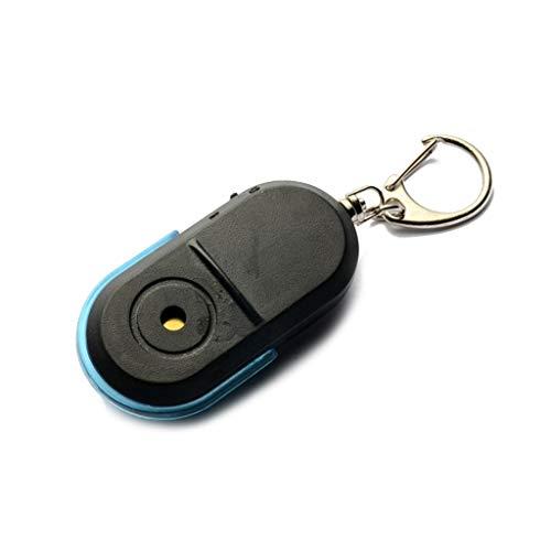 Llavero de buscador de llaves, inalámbrico, antipérdida, localizador, silbato con luz LED, llavero para llaves, mascotas, billetera, teléfono celular, Bl,