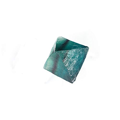 DAWEIF Natural Clear Blue Fluorite Crystal Octahedron Rough Specimens Mineral Desk Office Ornament Stone