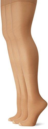 L'eggs Women's Energy 3 Pack Control Top Reinforced Toe Panty Hose, Suntan, Q