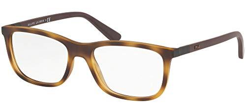 Ralph Lauren POLO 0PH2210 Monturas de gafas, Matte Havana, 53 para Hombre