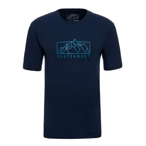 platzangst Mountain Logo T-Shirt - Blau Größe L