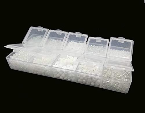 /Patines/ /Creation 500/perlas de Rocailles blanco opalino di/ámetro 4/mm 6//0/
