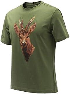 Beretta Camiseta Corzo Verde,100% Cotton,Talla L
