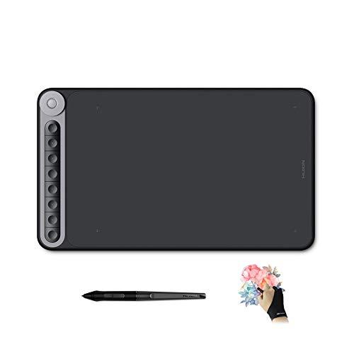 HUION Inspiroy Dial Q620M Tableta Grafica Dibujo con un Controlador de Marcación Multifuncionaly 8 Teclas Programables, Admite Conectividad Inalámbrica, Compatible con Windows, macOS and Android