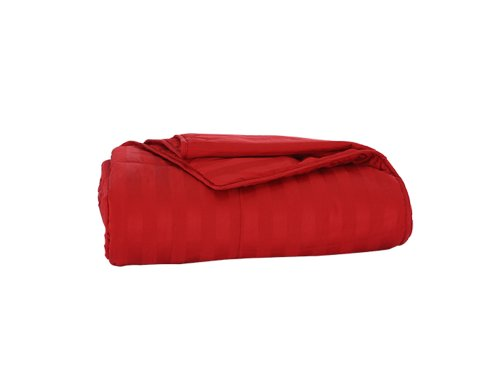 Cottonpure 100% Sustainable Cotton Filled Blanket, Full/Queen, Scarlet
