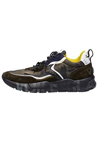VOILE BLANCHE CLUB01-Sneaker in Suede e Tessuto Camouflage Militare 43
