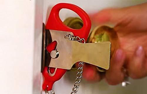 Bloqueador de puerta portátil de seguridad, fácil de instalar en hoteles y apartamentos