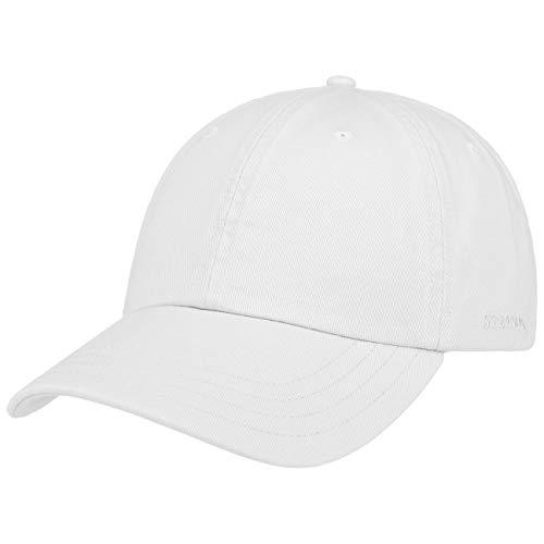 Stetson Rector Basecap - Cap für Damen/Herren - Sonnenschutz-Cap aus Baumwolle (UV-Schutz 40+) - Baumwollcap größenverstellbar (55-60 cm) - Baseballcap Sommer/Winter weiß One Size