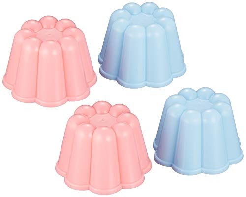 タイガークラウン ゼリー型 ピンク 青 78×50mm P.ゼリー型 4P ポリプロピレン 冷菓型 ゼリーカップ 1153 4個入
