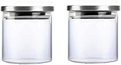 Cello Steelox Glass Storage Jar Set, 500ml, Set of 2, Clear