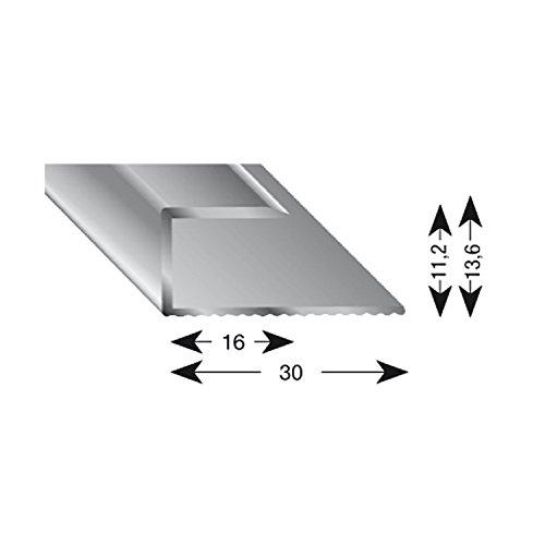 kügele gleitabsc hluss Perfil U aluminio plata anodizado 11/1000mm, 1pieza, 11110S 100
