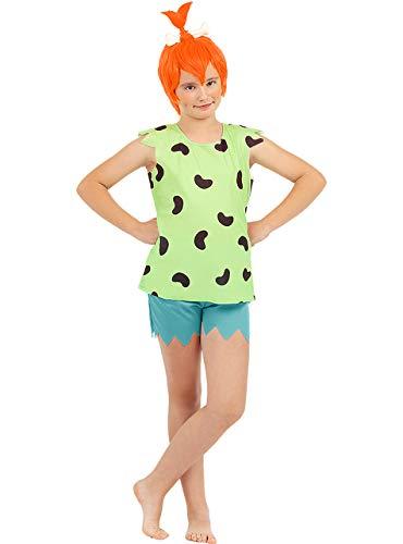 Funidelia | Disfraz de Pebbles - Los Picapiedra Oficial para niña Talla 3-4 años ▶ The Flintstones, Dibujos Animados, Los Picapiedra, Cavernícolas