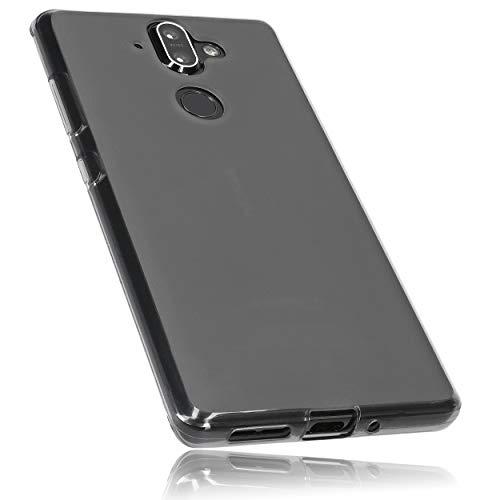 mumbi Hülle kompatibel mit Nokia 8 Sirocco Handy Hülle Handyhülle, transparent schwarz