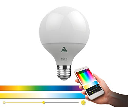 EGLO connect LED E27 Lampe, Smart Home Glühbirne, LED Globe, 13 Watt (entspricht 88 Watt), 1300 Lumen, E27 LED dimmbar, Farbtemperatur und RGB Farben einstellbar, LED Leuchtmittel G95, Ø 9,5 cm