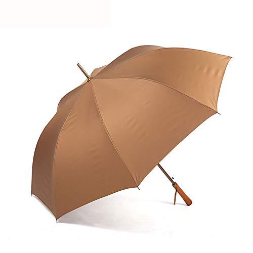 GNNHY Paraplu voor heren en dames voor zonnige/regen voor tweeërlei gebruik, Gentleman Golf wandelstok paraplu's Extra bescherming Patio Winddicht Compact Sterke Storm Beschermer