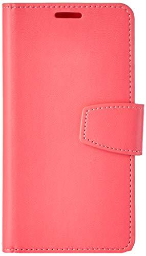 Ultratec Funda protectora de cuero sintético para Samsung S6, con función de soporte y compartimentos interiores, rosa