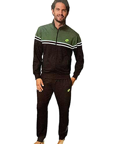 Lotto Herren-Trainingsanzug aus Sweatshirt für den Sommer, Sportanzug für Herren, weich für maximalen Komfort (6507 FORESTA, XX_l)