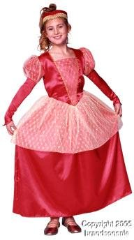 Child's Queen Of Hearts Girl's Costume (Size:Large 12-14)