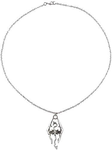 necklace Dinosaurio Collar Colgante de dragón Elder Scrolls Skyrim dragón Colgante Collar Retro Hombre/Mujer Joyas