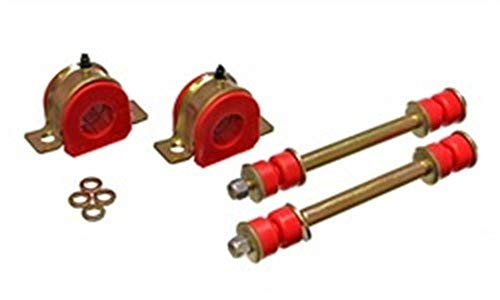 Energy Suspension Sway Bar Bushing Set Bar Dia. 30mm Greaseable Frame Bushings Incl. Sway Bar End Links Red