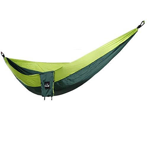 GCX Sólido Hamaca al Aire Libre antivuelco for Adultos, Adultos, Dormir en casa Dormitorio de Estudiantes balcón Parque Columpio Hamaca Relajarse (Color : Army Green Color)