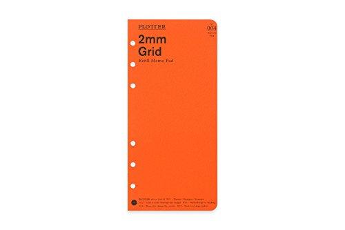 ナローサイズ PLOTTER/プロッター 2mm方眼 メモパッド システム手帳リフィル 777164
