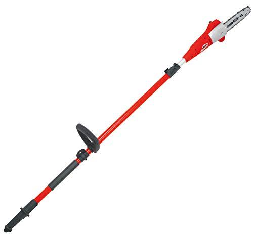 Elagueuse électrique sur perche Grizzly EKS 710 T, longueur de coupe 19,5 cm, 710 Watt, scie à chaîne télescopique incl. sangle de transport, hauteur de travail jusqu'à environ 4 m
