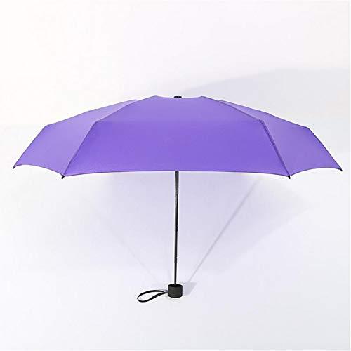 NFHBBAA Parapluie Pliant Pluie Dames Hommes Poche Parapluie Fille Protection UV Imperméable Parapluie Portable Sac À Dos