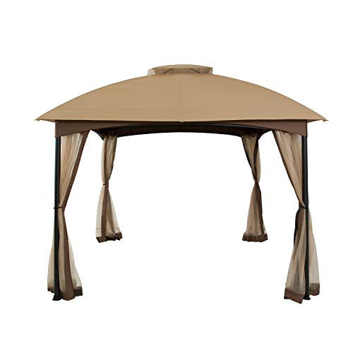 FAB BASED 10'x10' Gazebos for Patios Waterproof ,Double Vent Canopy...