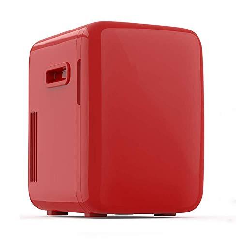 Muebles Más frío Calentador Mini Frigorífico, Vintage clásico 10 litros Capacidad grande Portátil Portátil Nevera Compact, para automóviles, Dormitorios, Casas, Oficinas Red Jialele ( Color : Red )