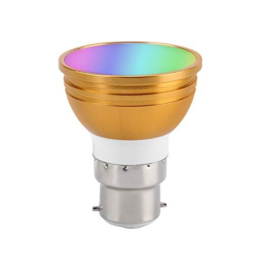 01 Lampadina con Controllo Wi-Fi, Funzione di temporizzazione e Ritardo Lampadina LED Wi-Fi, Lampadina Wi-Fi Lampadina LED RGB+CW per Feste a casa(B22, Traduzione)