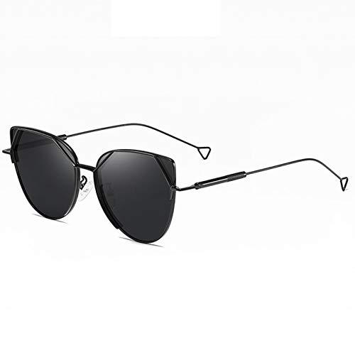 LK-HOME Gafas De Sol Polarizadas,Mujer Hombre Sunglasses Anti-Ultravioleta,Elegantes Marcos Metal Ultraligeros Retro Adecuados Deportes Al Aire Libre Pilotos Conducción Conducción,Negro