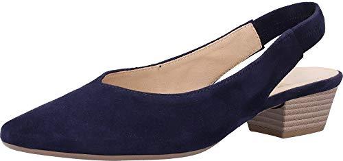 Gabor Heathcliff Womens Slingback Court Shoes 42 Bluette Suede